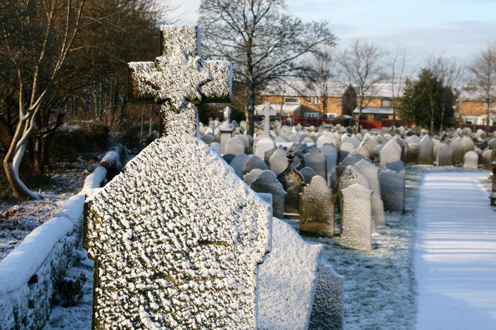 The beauty of snow - Sutton Parish Graveyard at St.Nicholas Church