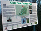 Clock Face Country Park sign