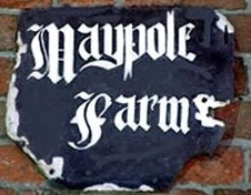 Maypole Farm sign St.Helens