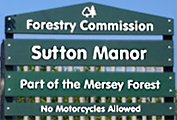 Sutton Manor Woodland sign