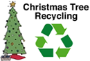 Christmas recycling in Sherdley Park, St.Helens