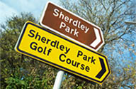 Signpost to Sherdley Park in St.Helens