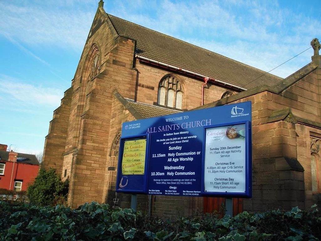 All Saints Church in Sutton, St Helens