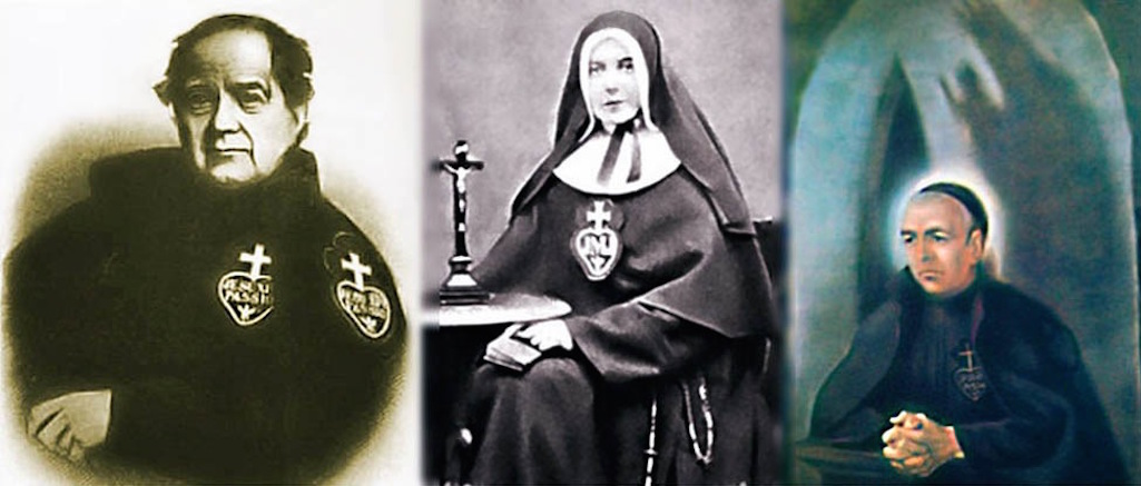 Father Ignatius Spencer (1799 - 1864), Elizabeth Prout (1864 - 1920) and Blessed Dominic Barberi (1792 - 1849)