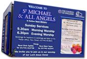 St. Michael church sign Clock Face St.Helens
