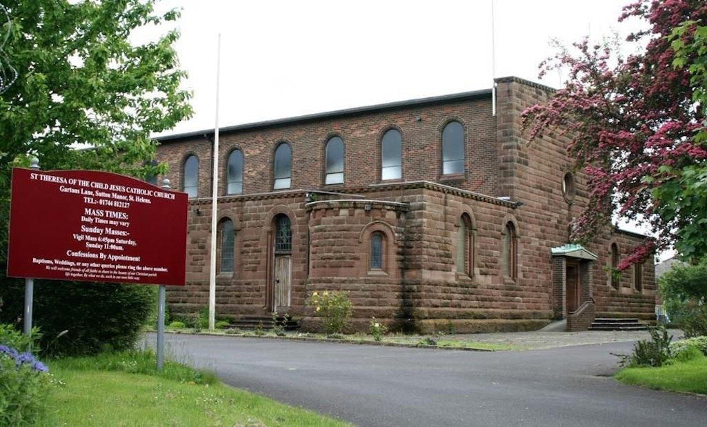 Exterior of St.Theresa Church, Gartons Lane, St.Helens