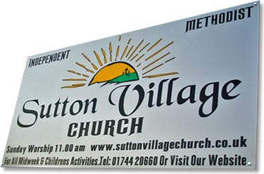 Sutton Village Church sign