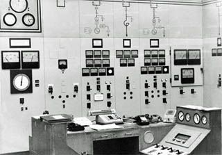 Bold Power Station's 'B' station control desk