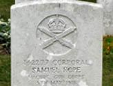 Samuel Hope grave