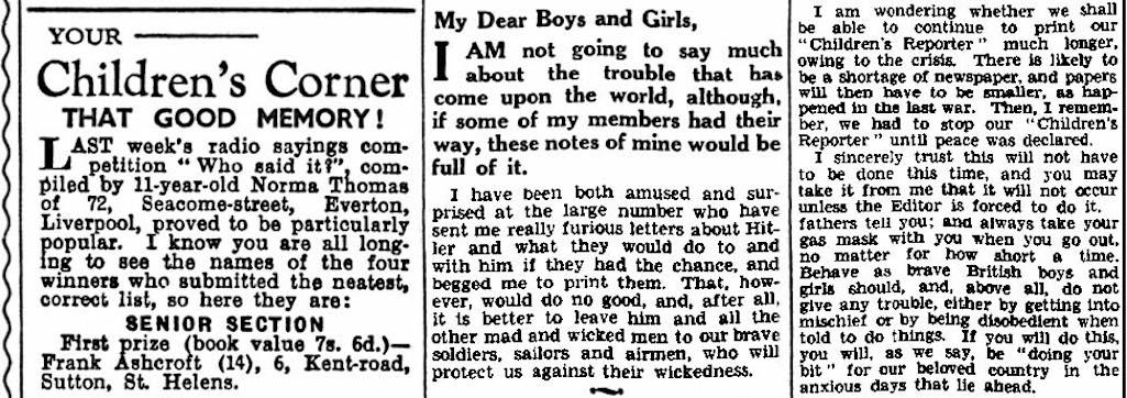 Children's Reporter St.Helens