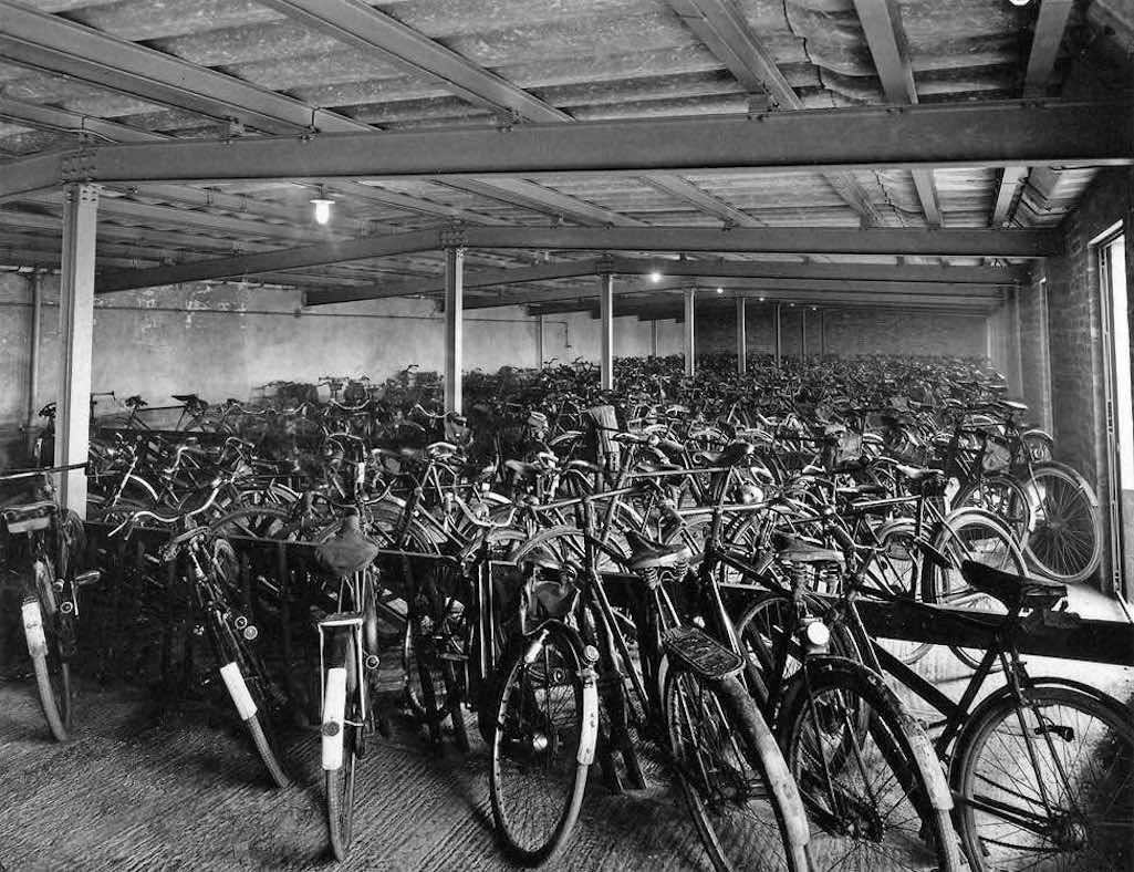 Clock Face Colliery bike shed