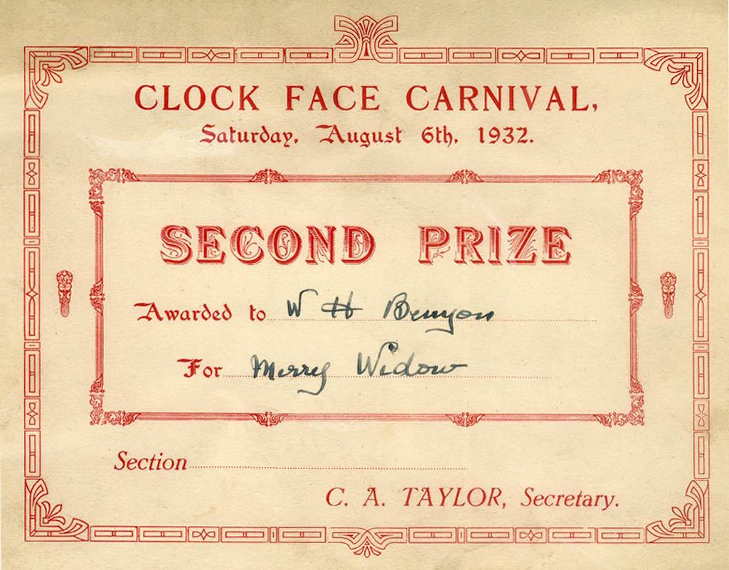 Clock Face Carnival 2nd prize