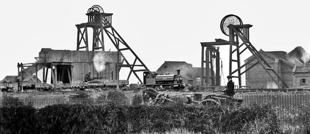 Clock Face Colliery taken possibly around 1905 looking across Gorsey Lane