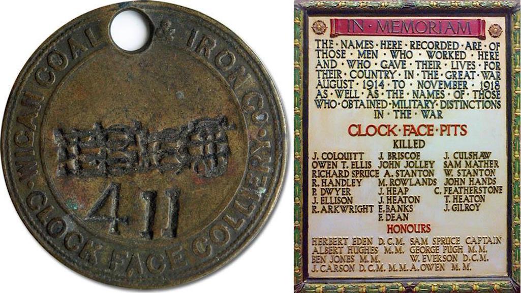 Clock Face Colliery plaque