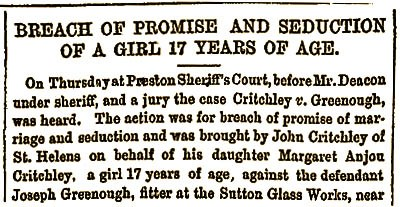 Preston Guardian report of May 16th 1874