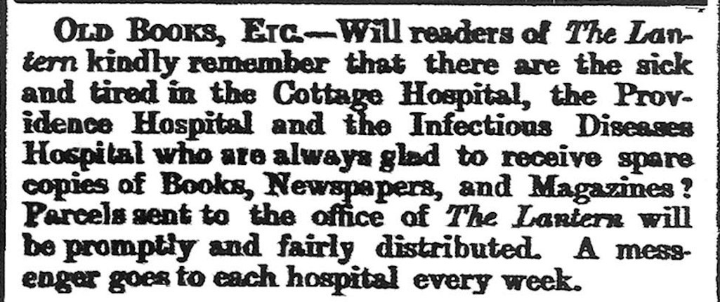 Notice in the Lantern newspaper, St.Helens