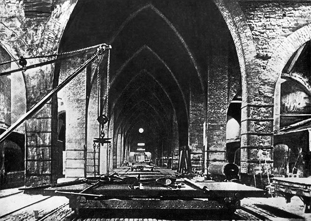 The casting hall of the Ravenhead glass works which when built was 113 yards long and at least 50 yards wide