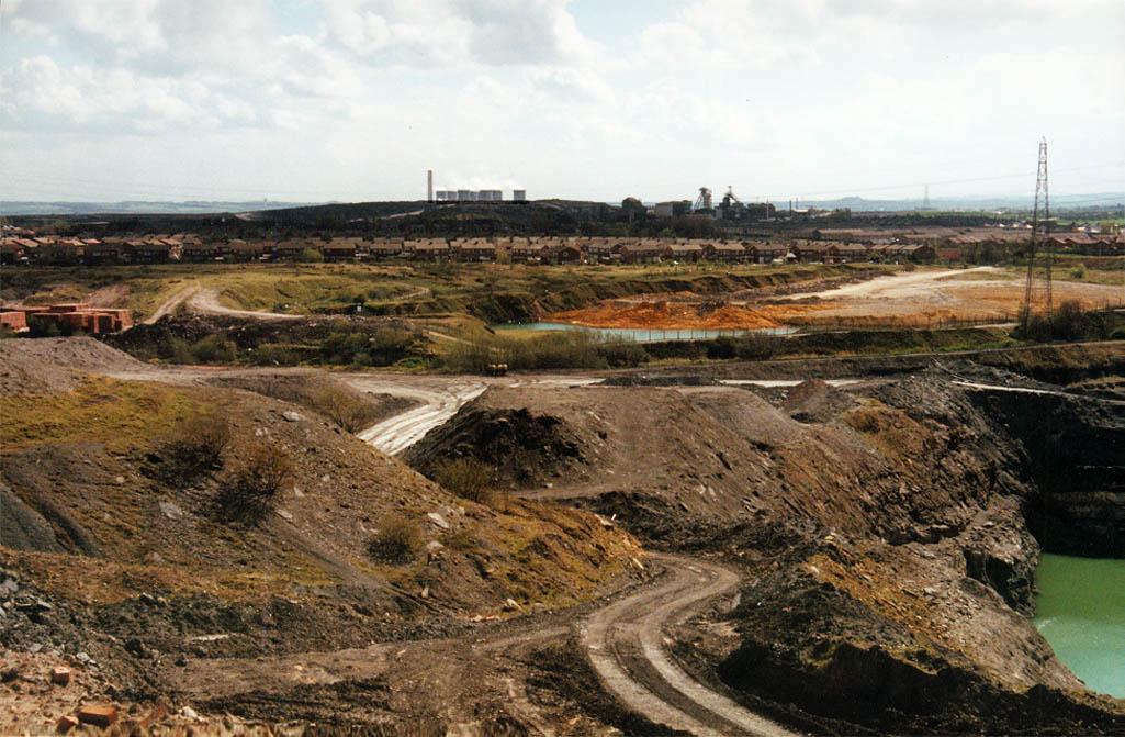 Ibstock quarry in 1990