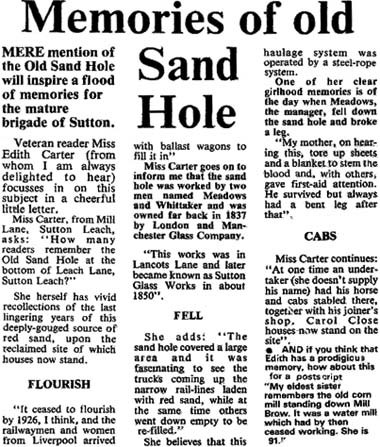 Memories of old Sand Hole