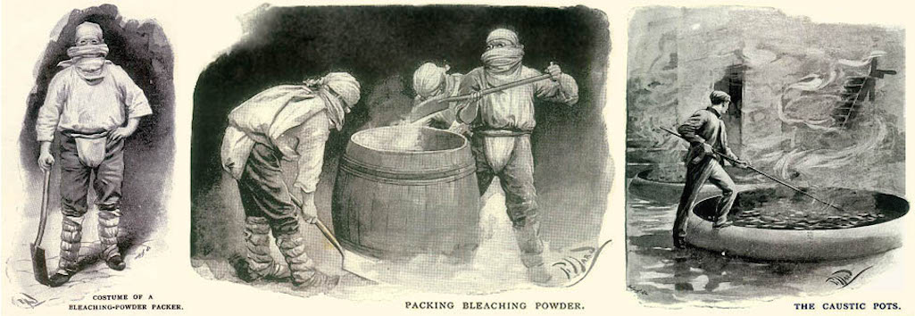 Illustrations by Harold Piffard who visited chemical factories in St.Helens & Widnes in 1896