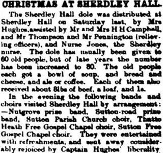 Christmas at Sherdley Hall, Sutton, St.Helens 1899