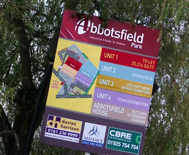 Abbotsfield Park Industrial Estate sign