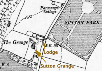 Sutton Grange to the west of Marshalls Cross Road, Sutton in 1894