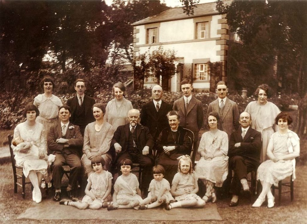 The Cope family at Mill House during diamond wedding celebrations of September 1929