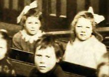 Joan Williams sat next to best friend Margaret Baines at Sutton National School c.1924