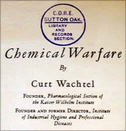 Chemical Warfare by Curt Wachtel