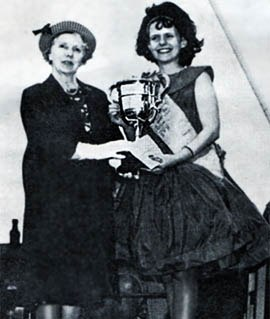 Pat Beesley as Lancashire Miners Gala Queen