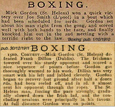 Mick Gordon fights in 'Boxing' magazine