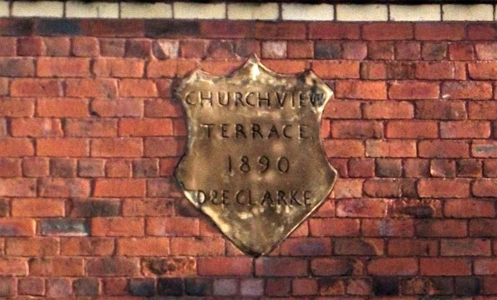 Church View Terrace Plaque, Robins Lane, Sutton, St.Helens