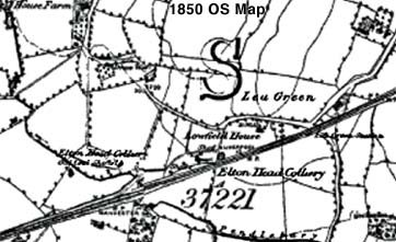 Lea Green map from 1850