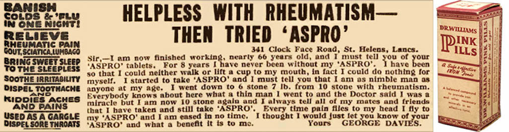 Advertisement for Apro in The Western Times of Exeter published on  Friday 19th April 1940
