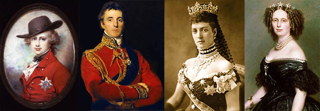 Prince of Wales (later George IV); Duke of Wellington; Alexandra, Princess of Wales; Sophie, Queen of Holland