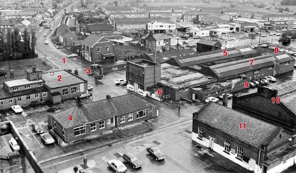 Aerial plan of Sutton Manor Colliery, St.Helens