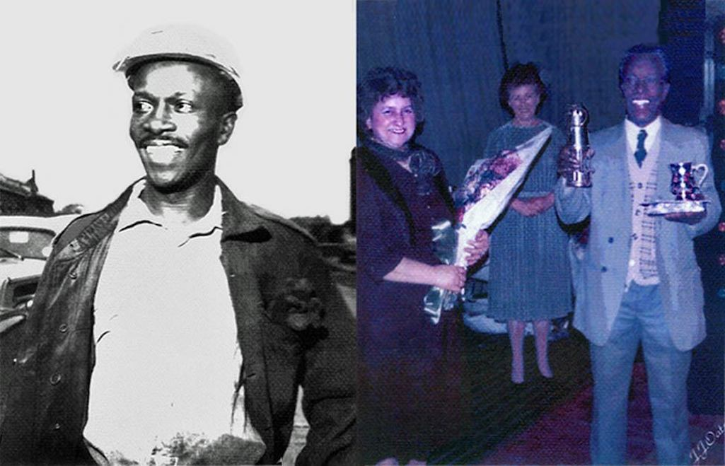Pit deputy George Streete pictured in 1960 and at his retirement in 1980