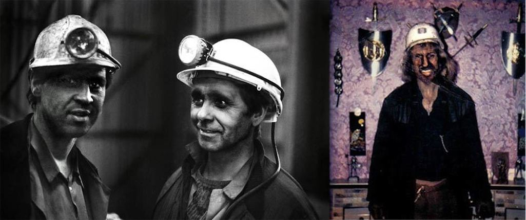 Left: Anonymous Manor miners (Frazier Nairn Collection); Right: Bill Mullaney at his Milton Street home after a nightshift