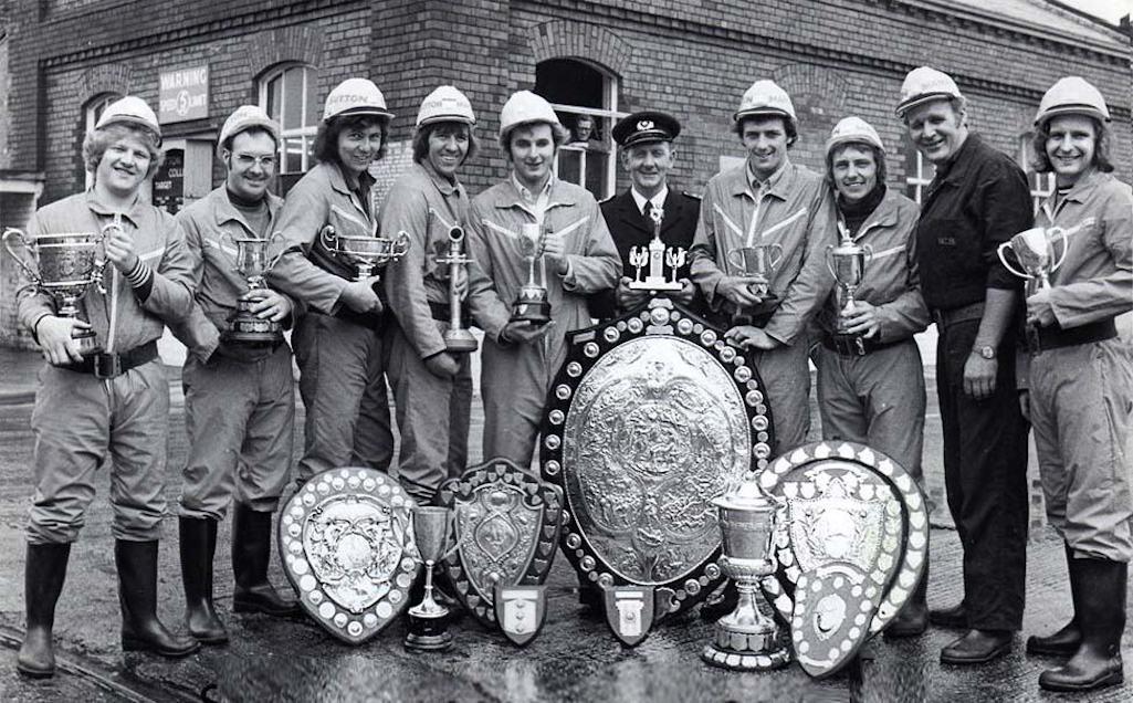 The award-winning Sutton Manor Colliery firefighting team