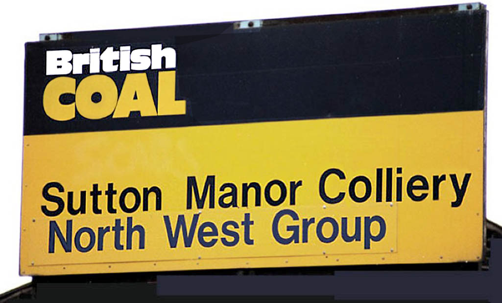Sutton Manor Colliery St.Helens sign