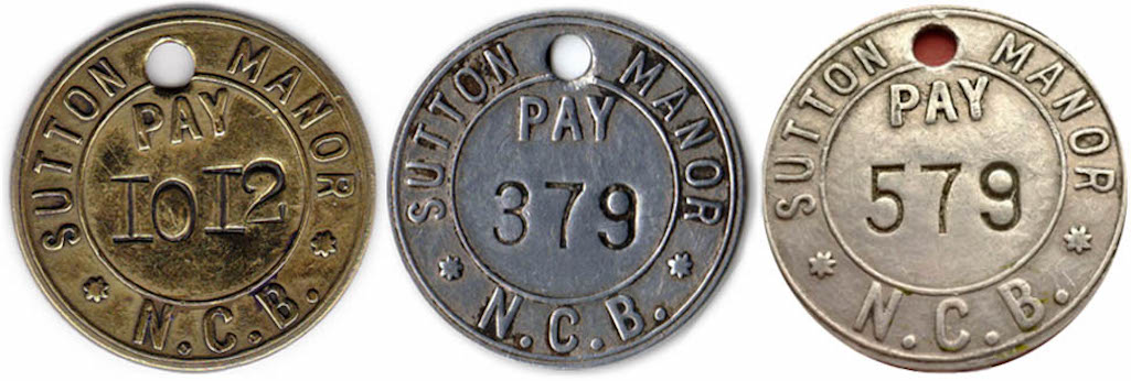 Sutton Manor Colliery tallies