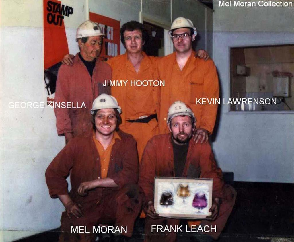 Sutton Manor Colliery mineworkers in 1980s