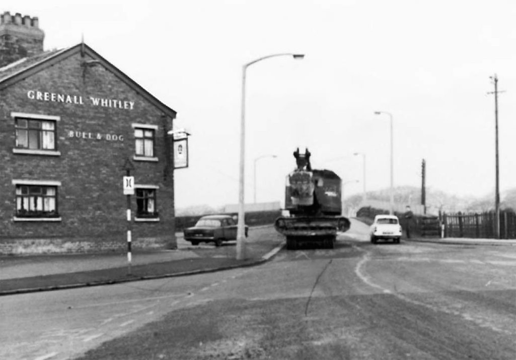 The Bull & Dog pictured in 1963 by the old Marshalls Cross Road bridge in St.Helens
