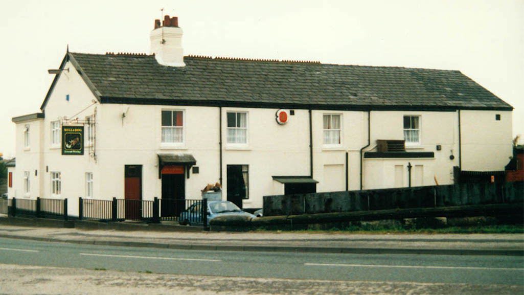 The Bull & Dog pictured in 1988 in St.Helens