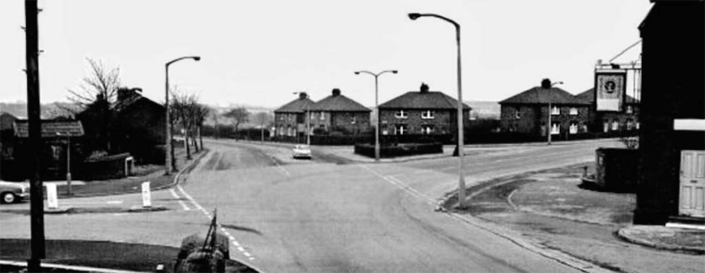 The Bull & Dog pictured on the right of the old Marshalls Cross Road bridge in St.Helens
