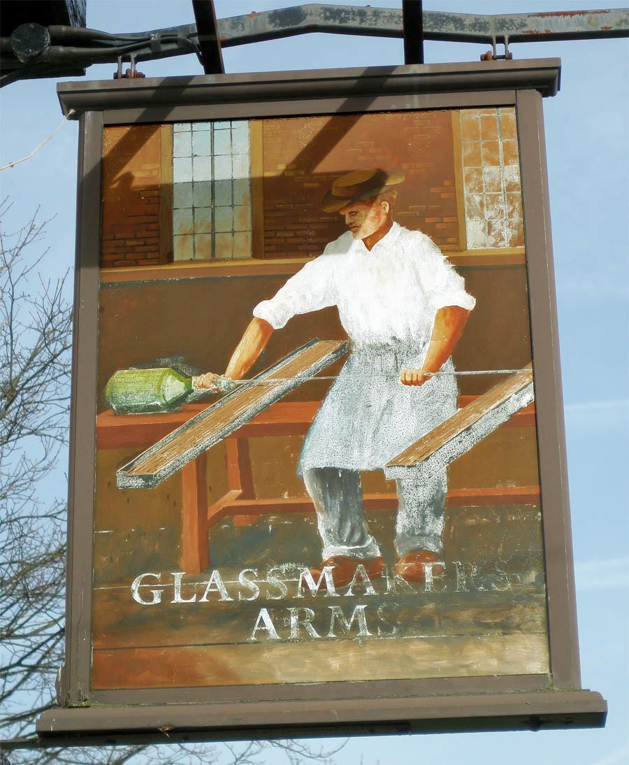 Glassmakers Arms sign Sutton, St.Helens
