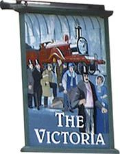 The old Victoria pub sign