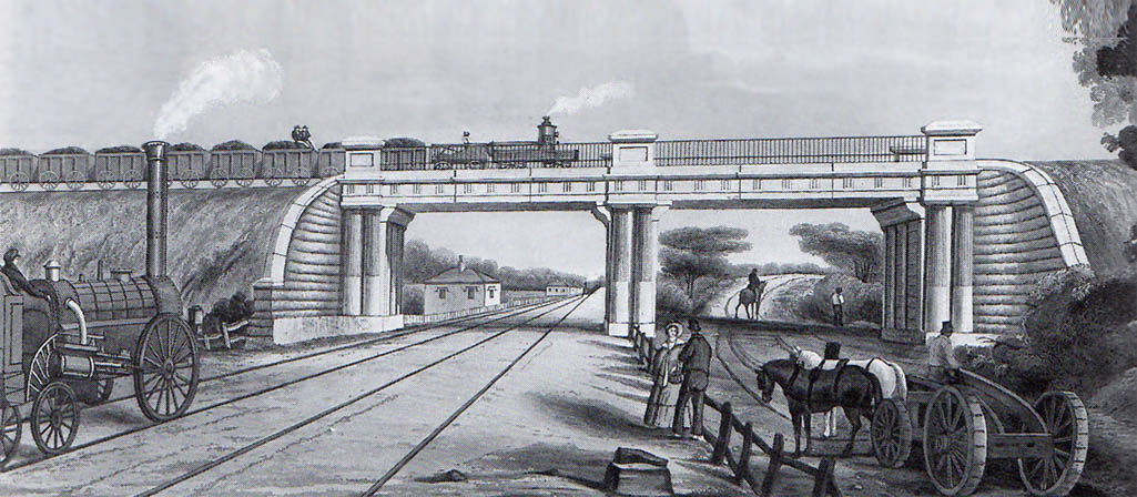 The Sutton intersection bridge, the first place in the world where a railway crossed a railway