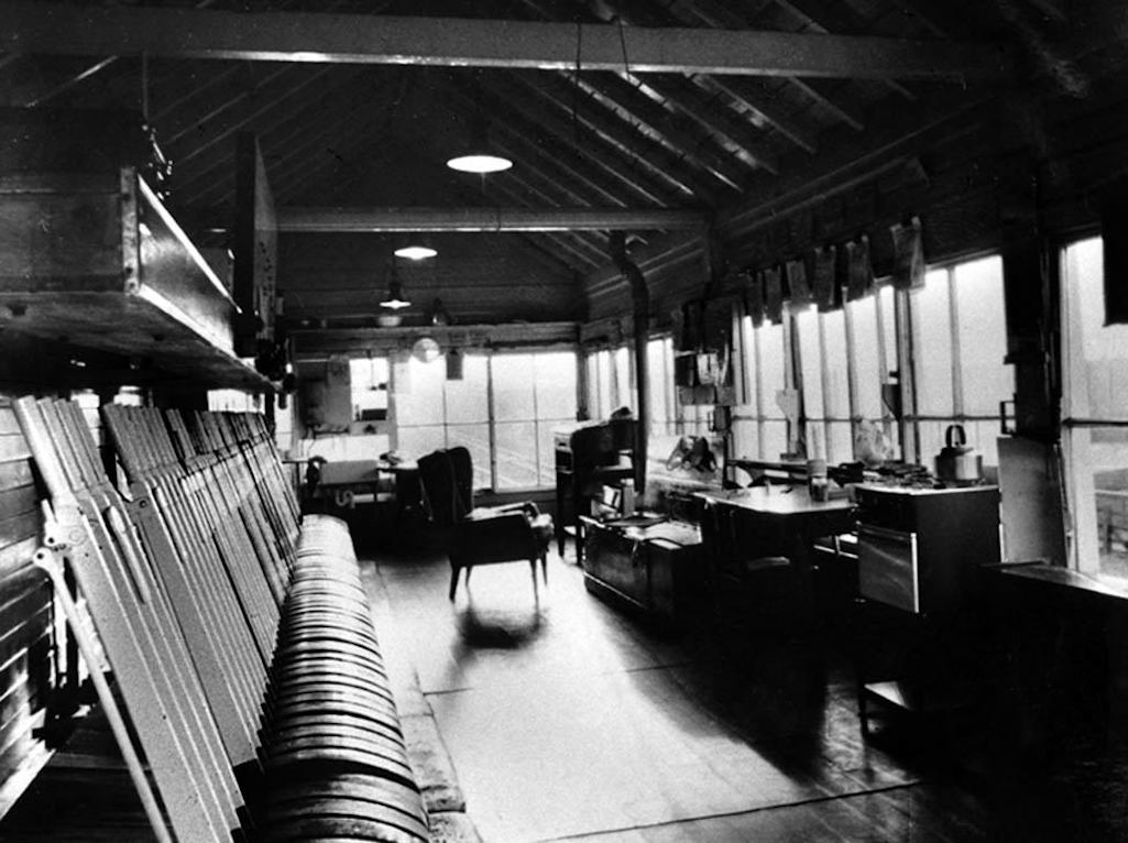 Interior of the Sutton Oak Signal Box